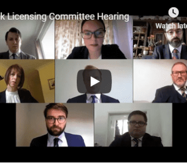 Licensing Team Hold Mock Committee Hearing
