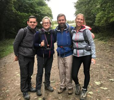 Kings team complete 50km peak district challenge to raise funds for Child Brain Injury Trust
