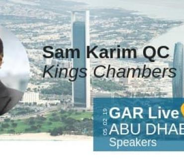 Sam Karim QC to Speak at the 4th GAR Live Abu Dhabi  5th February 2019