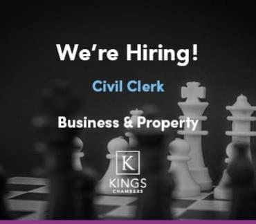 We're Hiring! Business & Property Clerk