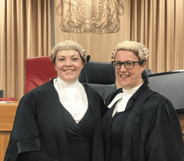 Helen Trotter and Helen Gardiner sworn in as recorders