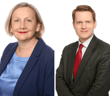 Lesley Anderson QC and Ben Harding speak at the Chancery Bar Association Conference