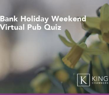 Business & Property: Bank Holiday Weekend Virtual Pub Quiz
